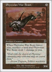 Phyrexian War Beast, Magic: The Gathering, Deckmasters Garfield vs Finkel