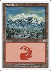 Mountain (45), Magic: The Gathering, Deckmasters Garfield vs Finkel