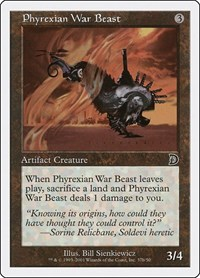 Phyrexian War Beast (b), Magic: The Gathering, Deckmasters Garfield vs Finkel