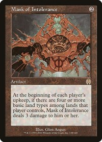 Mask of Intolerance, Magic: The Gathering, Apocalypse
