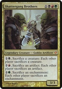 Shattergang Brothers (Commander 2013), Magic: The Gathering, Oversize Cards
