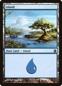 Island (303), Magic: The Gathering, Commander