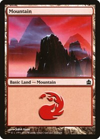 Mountain (312), Magic: The Gathering, Commander