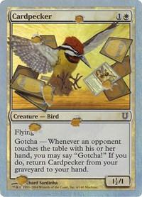 Cardpecker (Alternate Foil), Magic: The Gathering, Unhinged