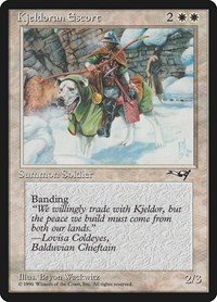 Kjeldoran Escort (Green Blanketed Dog), Magic, Alliances