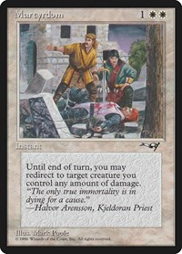 Martyrdom (Wounded on Ground), Magic: The Gathering, Alliances