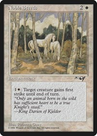 Noble Steeds (Trees in Forefront), Magic: The Gathering, Alliances