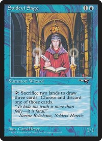 Soldevi Sage (2 Candles), Magic: The Gathering, Alliances
