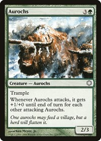 Aurochs, Magic: The Gathering, Coldsnap Theme Deck Reprints