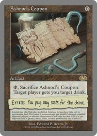 Ashnod's Coupon, Magic: The Gathering, Unglued