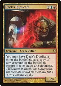 Dack's Duplicate, Magic: The Gathering, Conspiracy
