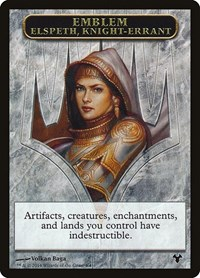Emblem - Elspeth, Knight-Errant // Soldier Token, Magic, Magic Modern Event Deck