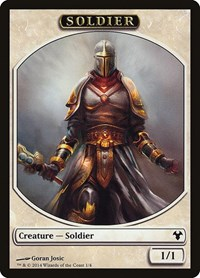 Soldier // Spirit Double Sided Token, Magic: The Gathering, Magic Modern Event Deck