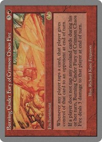 Burning Cinder Fury of Crimson Chaos Fire, Magic: The Gathering, Unglued