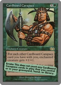 Cardboard Carapace, Magic: The Gathering, Unglued