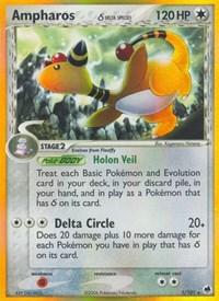 Ampharos (Delta Species), Pokemon, Dragon Frontiers
