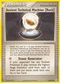 Ancient Technical Machine [Rock], Pokemon, Hidden Legends