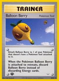 Balloon Berry, Pokemon, Neo Revelation
