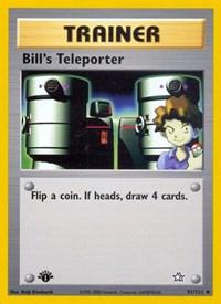 Bill's Teleporter, Pokemon, Neo Genesis