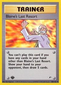 Blaine's Last Resort, Pokemon, Gym Heroes