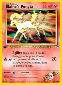 Blaine's Ponyta, Pokemon, Gym Heroes