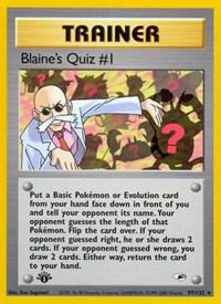 Blaine's Quiz #1, Pokemon, Gym Heroes