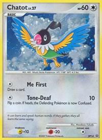 Chatot, Pokemon, Diamond and Pearl Promos