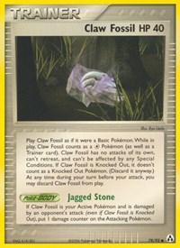 Claw Fossil, Pokemon, Legend Maker