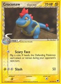 Croconaw (Delta Species), Pokemon, Dragon Frontiers