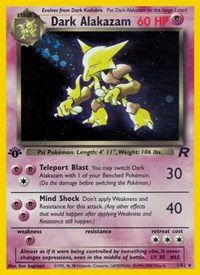 Dark Alakazam (1), Pokemon, Team Rocket