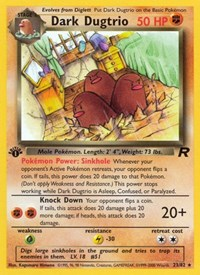 Dark Dugtrio (23), Pokemon, Team Rocket