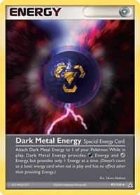 Dark Metal Energy, Pokemon, Holon Phantoms