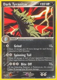 Dark Tyranitar (19), Pokemon, Team Rocket Returns