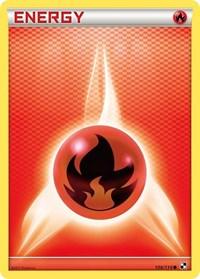 Fire Energy, Pokemon, Black and White