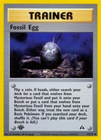 Fossil Egg, Pokemon, Neo Discovery