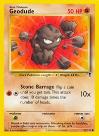 Geodude, Pokemon, Legendary Collection