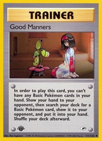 Good Manners, Pokemon, Gym Heroes