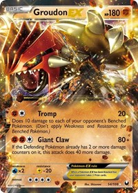 Groudon EX, Pokemon, Dark Explorers