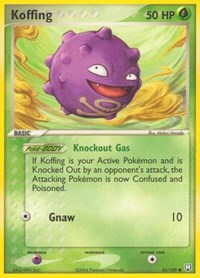 Koffing, Pokemon, Team Rocket Returns