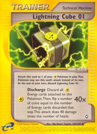 Lightning Cube 01, Pokemon, Aquapolis