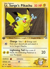 Lt. Surge's Pikachu, Pokemon, Gym Heroes
