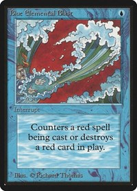 Blue Elemental Blast, Magic: The Gathering, Beta Edition