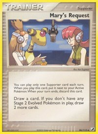 Mary's Request, Pokemon, Unseen Forces