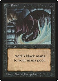 Dark Ritual, Magic: The Gathering, Beta Edition