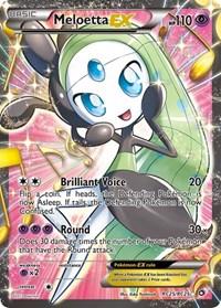 Meloetta EX (Full Art), Pokemon, Legendary Treasures: Radiant Collection