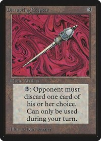 Disrupting Scepter, Magic: The Gathering, Beta Edition