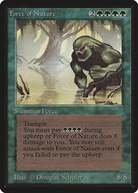 Force of Nature, Magic: The Gathering, Beta Edition