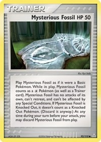 Mysterious Fossil, Pokemon, Holon Phantoms