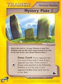 Mystery Plate Beta, Pokemon, Skyridge