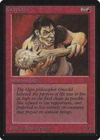 Gray Ogre, Magic: The Gathering, Beta Edition